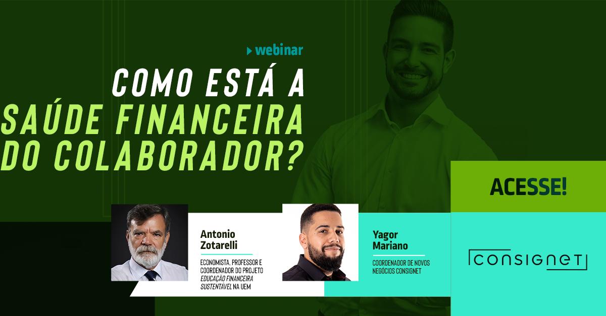 Capa Do Webinar De Saúde Financeira